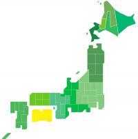 日本地図(四国)